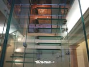Glass and Stainless Steel Open staircase MATHIS - FARAONE