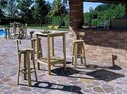 Square wooden high table RITROVO | High table - Legnolandia