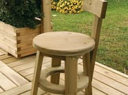 Low wooden garden stool RITROVO | Low stool - Legnolandia