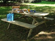 Wooden picnic table with integrated benches BELLAVISTA - Legnolandia