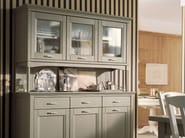 Wooden highboard with doors with drawers ARCANDA | Highboard with doors - Scandola Mobili