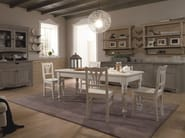 Rectangular wooden table with drawers TABIÀ   Table with drawers - Scandola Mobili
