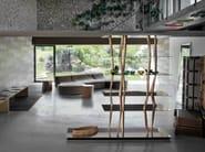 Aluminium and wood bookcase SENDAI - HORM.IT