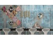 Wall effect vinyl wallpaper JUPITER 41 - GLAMORA