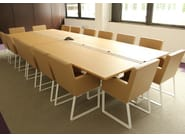 Rectangular wooden meeting table SÉVERIN | Meeting table - Alex de Rouvray design