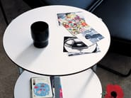Round coffee table with casters GIRÒ - Zanotta