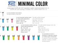 Countertop LED chromed brass washbasin mixer without waste MINIMAL COLOR | LED washbasin mixer - Remer Rubinetterie