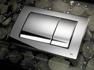 Glossy steel flush plate METAL DUAL | Glossy steel flush plate - OLI