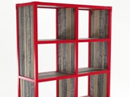 Freestanding wooden bookcase with casters AK- 14 | Wooden bookcase - KARPENTER