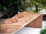 Okoumé garden bench RIPPLES OUTDOOR - HORM.IT