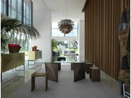 Solid wood stool RIPPLES | Stool - HORM.IT