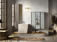 Lacquered wall-mounted vanity unit MAIA 305 - Edoné by Agorà Group