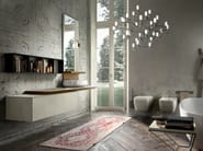Wall-mounted vanity unit with mirror ENEA 313 - Edoné by Agorà Group