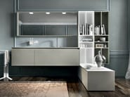 Lacquered wall-mounted vanity unit with mirror EOS 333 - Edoné by Agorà Group