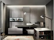 Lacquered wall-mounted vanity unit with mirror NIKE 328 - Edoné by Agorà Group
