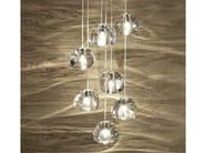 Halogen crystal pendant lamp MIZU | Pendant lamp - TERZANI