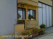 Modular acrylic glass door canopy MODERN STYLE - ROYAL PAT