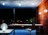 Borosilicate glass ceiling light FORATA PL - Vetreria Vistosi