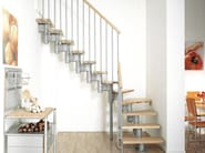 Solid wood Open staircase in kit form KOMPACT - Fontanot Spa