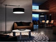 Adjustable carbon fibre floor lamp JUMP PT - Vetreria Vistosi