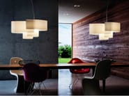 Fabric pendant lamp PAPIRO SP - Vetreria Vistosi