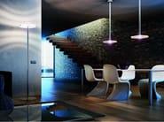 Chrome plated floor lamp POSADA PT - Vetreria Vistosi