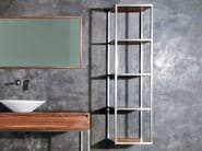 Open steel and wood wall cabinet with shelves DUKE | Open wall cabinet - KARPENTER