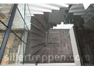 Self supporting wood and glass Open staircase Mistral Wood - Siller Treppen