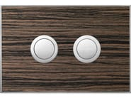 Flush plate WOOD MALINDI EBONY SATIN - Valsir