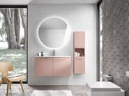 Single wall-mounted vanity unit with cabinets KYROS 13 - Edoné by Agorà Group