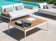 Rectangular teak garden side table MERIDIEN | Coffee table - Ethimo