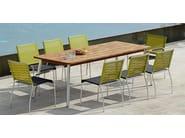 Stackable stainless steel garden chair NATUN | Chair - MAMAGREEN