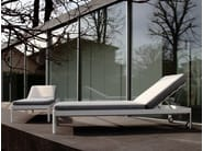 Recliner fabric garden daybed with Casters PLANE FOR SUN - iCarraro italian makers