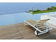 Contemporary style Recliner aluminium garden daybed with Casters STRIPE | Garden daybed with Casters - MAMAGREEN