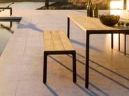 Teak garden bench ILLUM | Garden bench - TRIBÙ