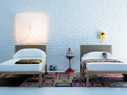 Double bed with upholstered headboard UNANOTTE - Zanotta
