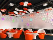 Hanging acoustical panels / pendant lamp NCM LA H600-900-1200FA | Pendant lamp - Neonny