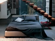Double bed with upholstered headboard NIGHT - Zanotta