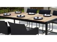 Rectangular aluminium and wood dining table ZUDU | Dining table - MAMAGREEN
