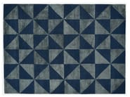Rectangular rug with optical pattern REFLECTIONS - Deirdre Dyson