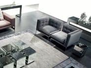 Sectional fabric armchair LIPS - ERBA ITALIA