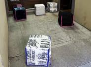 Upholstered pouf JONE - ERBA ITALIA