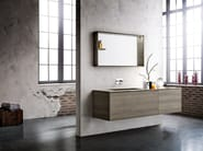 Wall-mounted vanity unit with mirror PLAY NEW 10/13 - Cerasa