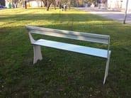 Recliner aluminium Bench with back PROEDRIA - ALUSCALAE