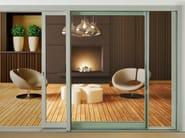 Aluminium and wood lift and slide window TOP ZERO - Alpilegno