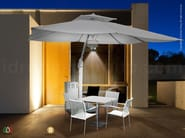 Nuvola, umbrella with misting system and LED lighting