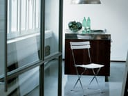 Folding stainless steel chair CELESTINA - Zanotta