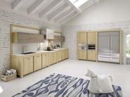 Linear oak kitchen ROVERISSIMA - Domus Arte