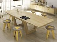 Suspended wooden sideboard SUNNY | Suspended sideboard - Domus Arte