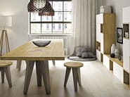 Rectangular solid wood table NETTUNO - Domus Arte